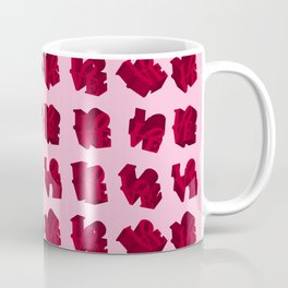 LOVE 3D Icon on pink background Coffee Mug