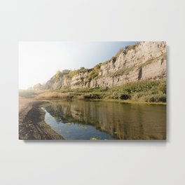 beautful reflection in Torrefumo lake in the bay of Naples Metal Print