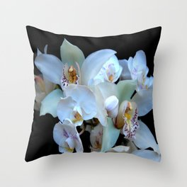 A White Orchid Wedding Throw Pillow