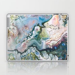 Sea and Land Acrylic Abstract Painting Laptop & iPad Skin