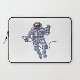 ASTRONAUT FLOATING IN SPACE ILLUSTRATION Laptop Sleeve