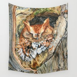 Woodland Screech by Teresa Thompson Wall Tapestry