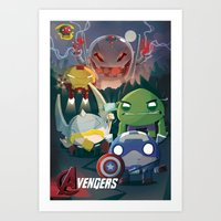 Chubby Super Hero Poster  Art Print