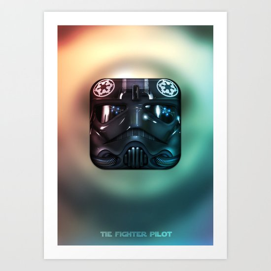 TIE Fighter Pilot Art Print