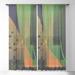 terrible risk Sheer Curtain
