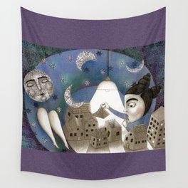 Go to Sleep, Says the Night Wall Tapestry