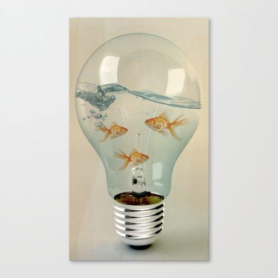 IDEAS AND GOLDFISH 03 Canvas Print
