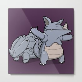 Pokémon - Number 111 & 112 Metal Print
