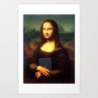 mona lisa Art Prints featuring mona lisa by Roman Belov