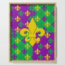 Mardi Gras Fleur-de-Lis Pattern Serving Tray
