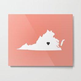 Virginia Love in Peach Metal Print