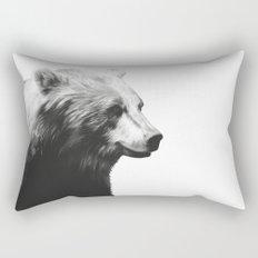 Bear // Calm (Black + White) Rectangular Pillow