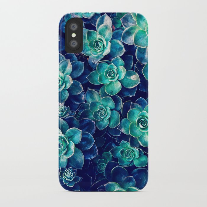 Plants of Blue And Green iPhone Case