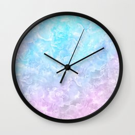 Pastel Scaly Marble Texture Wall Clock