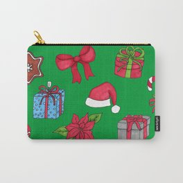 Christmas pattern (#1 green) Carry-All Pouch