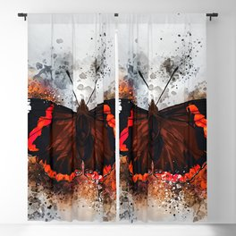 Red Admiral Butterfly Blackout Curtain