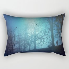 Bluer than Midnight Rectangular Pillow