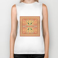 ashton irwin Biker Tanks featuring Syphilis Tapestry by Alhan Irwin by Microbioart