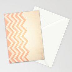 Orange Textured Chevron Stationery Cards