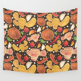 Indonesia Spices Wall Tapestry