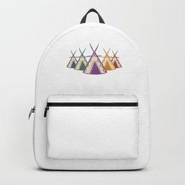 Retro Native American Teepee Happy Caming Camper Backpack