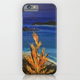 Beach bonfire iPhone Case