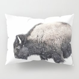 Bison in Yellowstone National Park Pillow Sham