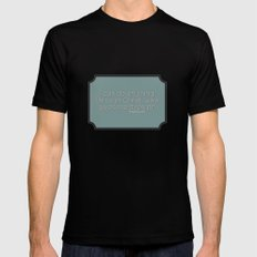 Anything MEDIUM Mens Fitted Tee Black