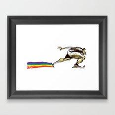 The Speed Skater Framed Art Print