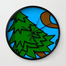 Tree-pping Balls | Veronica Nagorny Wall Clock