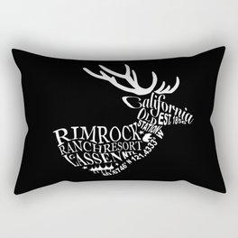 Rim Rock Ranch Deer in Black and White Rectangular Pillow