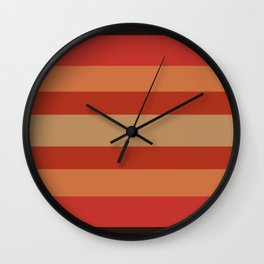 Earthy Terracotta - Color Therapy Wall Clock