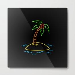 Neon Tropical Metal Print
