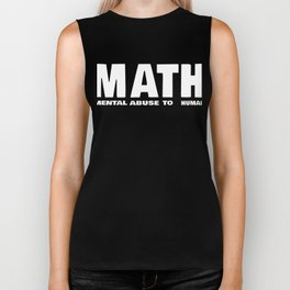 Maths Abbreviation Students Uni Sarcasm Gift Biker Tank
