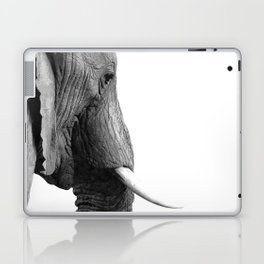 Black and white elephant portrait Laptop & iPad Skin