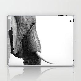 Black and white elephant portrait Laptop & iPad Skin