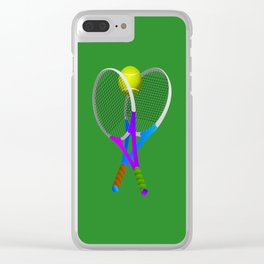 Tennis Rackets and Ball Clear iPhone Case