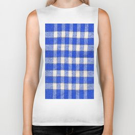 Gingham / vichy Pattern -strips,fashion,squares,french,vichy, gingham,bistrot,textiles,indie Biker Tank