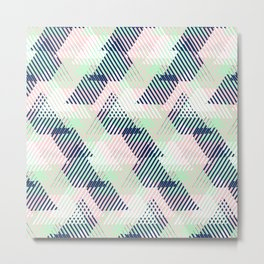 Geometric pattern in pastel mint, pink, blue colors Metal Print