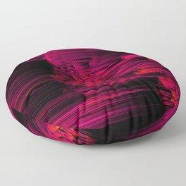 Burnout - Glitch Abstract Pixel Art Floor Pillow
