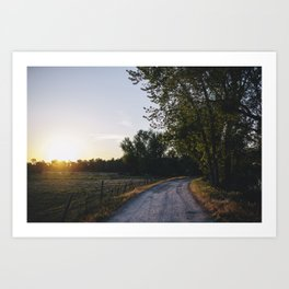 Idaho Driveway Art Print
