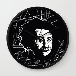 Albert Einstein Tribute Illustration Wall Clock