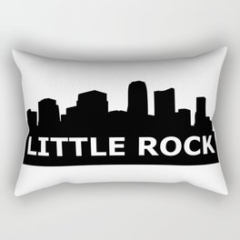 Little Rock Skyline Rectangular Pillow