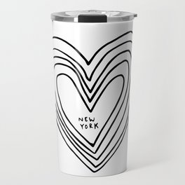 All Day. Every Day. Heartbeats for NYC. Travel Mug