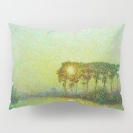 Sunset on the Lys landscape painting by Emile Claus Pillow Sham
