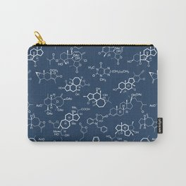 Molecules // Navy Carry-All Pouch