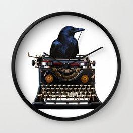 Journalist - Author - Typewriter Black Raven Wall Clock