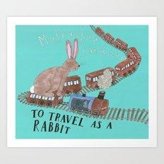 Travelling As A Rabbit Art Print