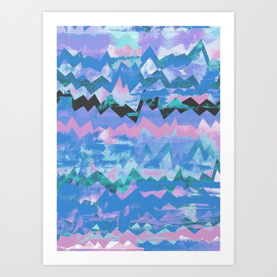 BlueZigZag Art Print