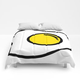 fried egg Comforters